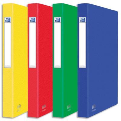 Classeurs 2 anneaux - carte grainée 7/10e - format 25,5x32 cm - coloris assortis