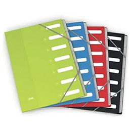 Trieur Elba Color Life - 7 compartiments - coloris assortis - couverture en carte pelliculée 7/10ème