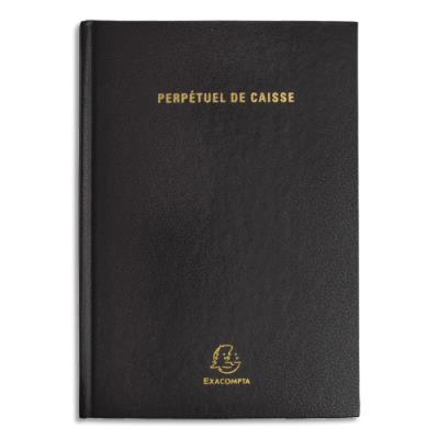 Agenda perpétuel recette dépense Exacompta - 14 x 22 cm - 1 page par jour - noir (photo)