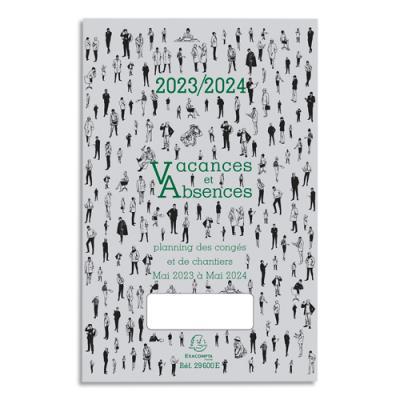 Plannnig dépliant Congés Mai/Mai, format 33x18 cm