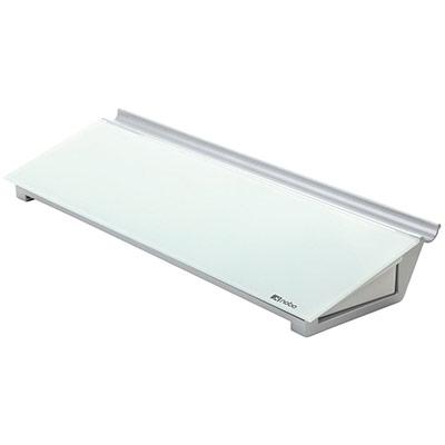 Bloc-Notes personnel Nobo - surface en verre trempé - 60 x 460 mm - blanc brillant (photo)