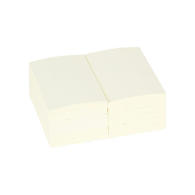 Bloc de 100 feuilles repositionnables Pergamy - 7,6x12,7 cm - jaune (photo)