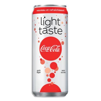 coca cola light - soda sans sucre - canette de 33 cl - achat pas cher