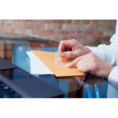 Rouleau 260 d'étiquettes adresses transparent pour Dymo Labelwriter - format 36 x 89 mm (photo)