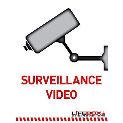 Panneau indicateur de surveillance vidéo (photo)