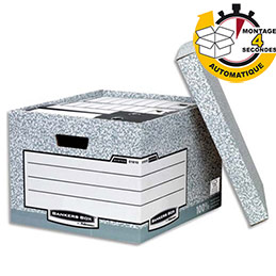 Grande caisse automatique pour archives Bankers Box® System (photo)