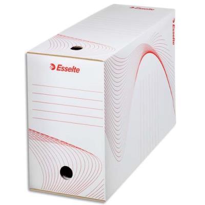 Boîte à archives Esselte - dos de 15 cm - carton ondulé kraft blanc - conditionnement par cerclage (photo)