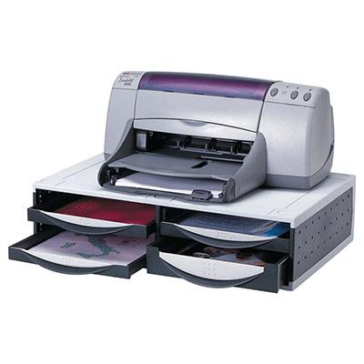Support écran et imprimante Fellowes - gris et noir (photo)