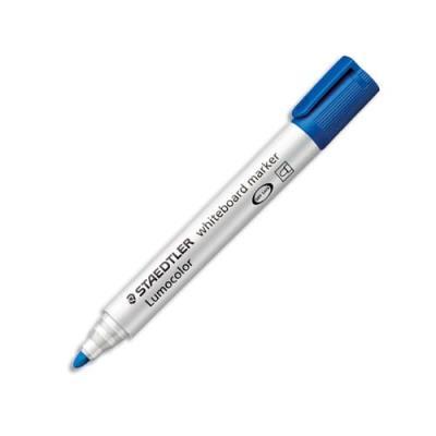 Marqueur Staedtler Lumocolor 351 - pointe ogive - effaçable bleu
