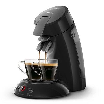 Machine à café Senseo Original 1450W - écran tactile - capacité 0,7L - 2 tasses - noire (photo)