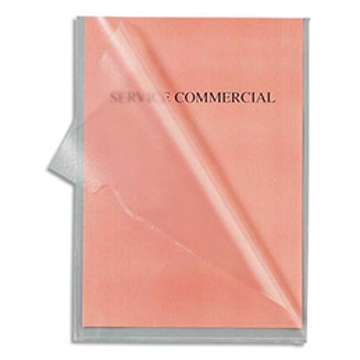 Sachet de 100 pochettes-coin incolores 1er prix - polypropylène grainé 9/100e