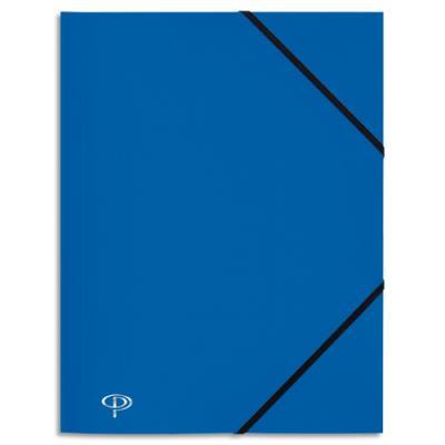 Chemise 3 rabats et élastique 5 Etoiles - polypropylène 4/10e - 24 x 32 cm - bleu marine (photo)