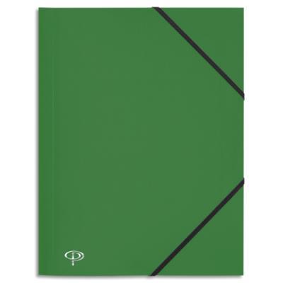 Chemise 3 rabats et élastique 5 Etoiles - polypropylène 4/10e - 24 x 32 cm - vert (photo)