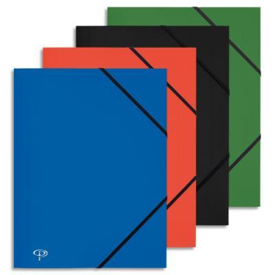 Chemise 3 rabats et élastique 5 Etoiles - polypropylène 4/10e - 24 x 32 cm - coloris assortis (photo)