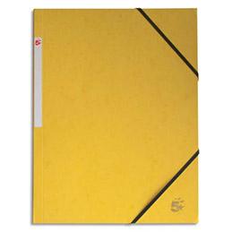 Chemise 1er prix 3 rabats et élastique - carte 5/10e - 24 x 32 cm - jaune (photo)