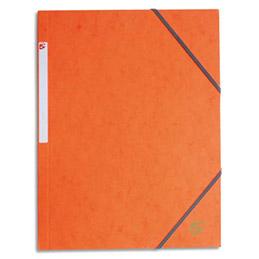 Chemise 1er prix 3 rabats et élastique - carte 5/10e - orange (photo)