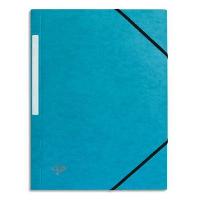 Chemise 1er prix 3 rabats et élastique - carte 5/10e - bleu clair (photo)
