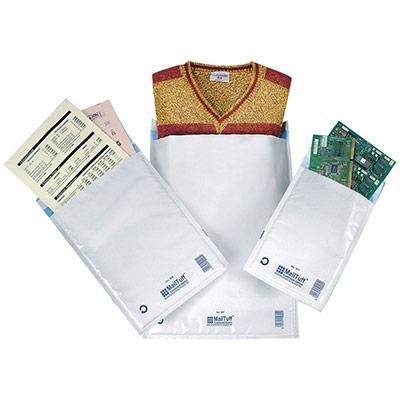 Enveloppe matelassée - AirCap - Mail Lite - format C0 - 210 x 150 mm - fermeture autocollante - blanc - paquet 10 unités (photo)