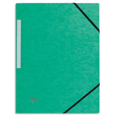 Chemise 1er prix 3 rabats et élastique - carte 5/10e - vert (photo)
