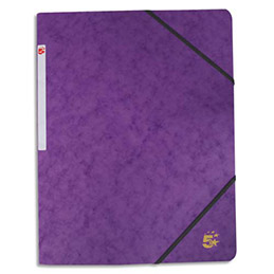 Chemise 1er prix 3 rabats et élastique - carte 5/10e - violet (photo)