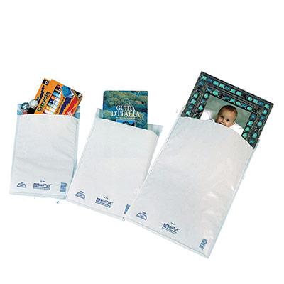 Enveloppe matelassée - AirCap - polyéthylène - Mail Lite Tuff - format D1 - 260 x 180 mm - fermeture auto-adhésive - blanc - paquet 10 unités (photo)