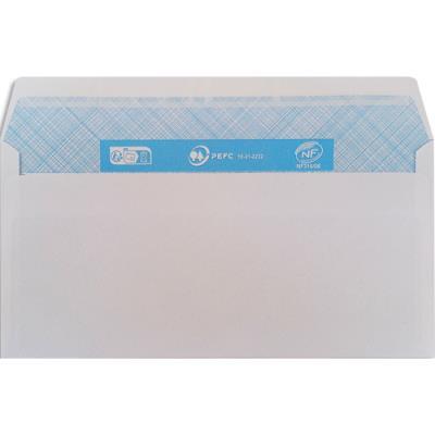 Enveloppes 110 x 220 mm 5 Etoiles - blanches - autoadhésives - 80 g - boîte de 500 (photo)