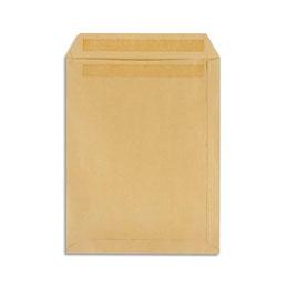Pochettes 229x324 1er prix - kraft brun - autocollante - 90g - boîte de 250 (photo)