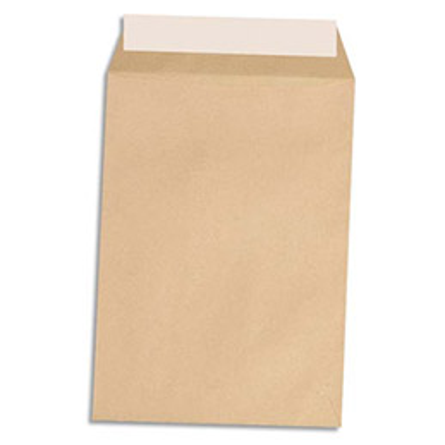Pochettes 162x229 1er prix - kraft brun - auto-adhésives - 90g - boîte de 500 (photo)