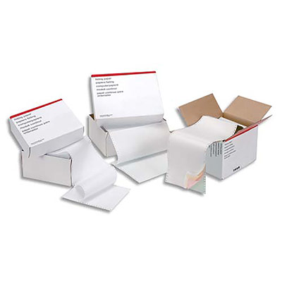 Boîte de 2000 listing 5 Etoiles - format 240 x 12'' - simple - blanc - 70 g - bande caroll détachable (photo)