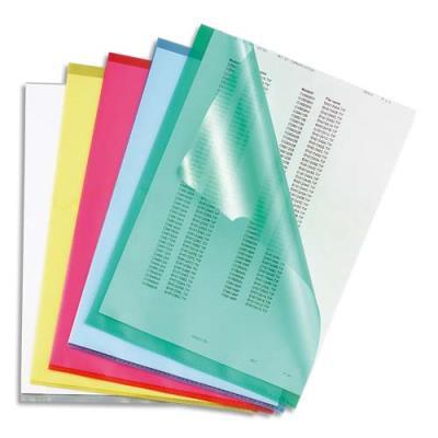 Boite de 100 pochettes-coin 5 Etoiles - polypropylène grainé 12/100e - coloris assortis translucides (photo)