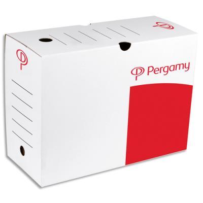 Boîte à archives 1er prix - dos de 15 cm - en carton ondulé - kraft blanc (photo)