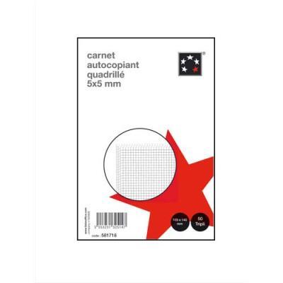 Carnet quadrillé autocopiant -Manifolds 5 Etoiles - 105 x 148 mm - 50 feuillets - tripli (photo)