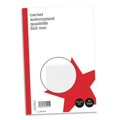 Manifold autocopiant quadrillé 1er prix - 148 x 210 mm - 50 feuillets - dupli