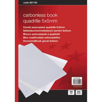 Manifold 5 Etoiles - autocopiant - quadrillé 210x297 mm - 50 feuillets - dupli (photo)