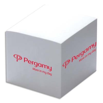 Bloc cube dos encollé 1er prix - 9 x 9 x 9 cm - 750 feuilles blanches