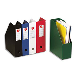 Porte-revues en PVC soudé - dos de 7 cm - noir livré à plat
