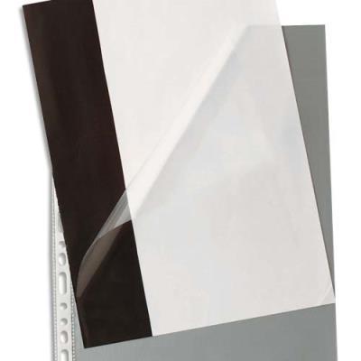 Pochettes perforées ouverture en coin - polypropylène 9/100e lisse - perforation 11 trous - boîte de 100