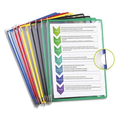 Poches Tarifold - format A4 à pivots -  coloris assortis - paquet de 10 poches