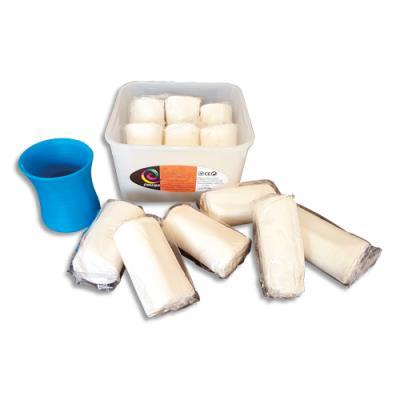 Assortiment de 6 x 500g pains de pate à jouer blanche MODLY autodurcissante à lair (photo)