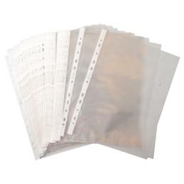 Pochettes perforées - polypropylène 5/100ème - aspect lisse - A4 - sachet de 50 (photo)
