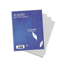 Buvards - 16x21 cm - 100g - blanc - sachet de 10 (photo)
