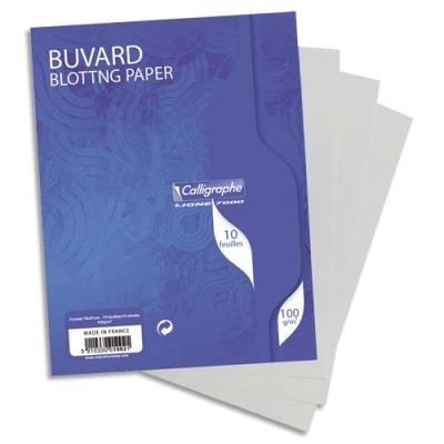 Sachet de 10 buvards 16x21 cm 100g blanc (photo)