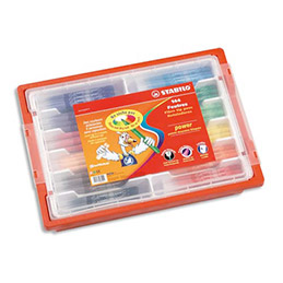 Pack de 144 feutres de coloriage stabilo Power - pointe moyenne - 12 x 12 couleurs assorties (photo)