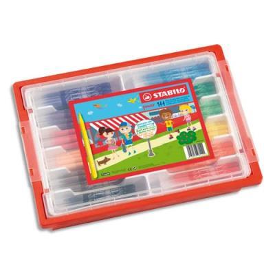 Pack de 144 feutres de coloriage stabilo Power - pointe moyenne - 12 x 12 couleurs assorties (photo)
