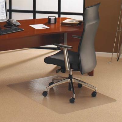 Tapis en polycarbonate Floortex pour sol moquette - 119 x 89 cm (photo)