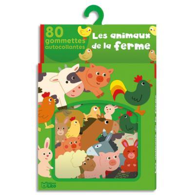 Boîte de 80 gommettes les animaux de la ferme (photo)