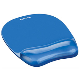 Tapis de souris gel cristal Fellowes - bleu (photo)