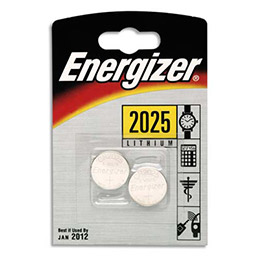 2 piles boutons - CR2025 - pile lithium 3V - Energizer (photo)