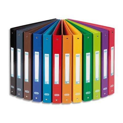 Classeur 4 anneaux Elba SCHOOL LIFE rembordé carte - format A4+ - dos de 4 cm - coloris assortis (photo)