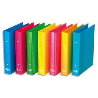 Classeur 2 anneaux Elba SCHOOL LIFE -en carte - format A5 17x22 cm - dos de 3,5 cm - coloris assortis (photo)